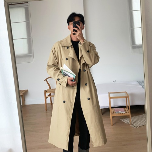 MAN TRENCH COAT(2color)